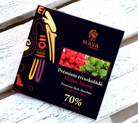 Maya Chocolate Prémium Maya ősi csokoládésorozat - Fleur de Cao 70% étcsokoládé málnával és mentával 100gr