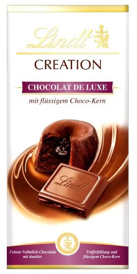 Lindt Limitált Creation - XXL Csokoládé lávatorta töltött tejcsokoládé 150gr