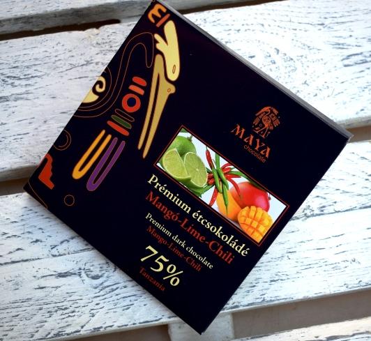 Maya Chocolate Prémium Ősi csokoládésorozat - Tanzania 75% étcsokoládé mangó & lime &  chili 100gr