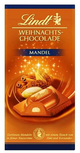 Lindt Karácsonyi csokoládé - Ünnepi mandulás tejcsokoládé 100gr