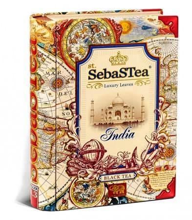 SebasTea luxus fémdobozos teakönyv - Az utazó: India fekete tea 100gr