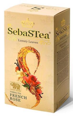 SebasTea filteres teakülönlegesség - Francia Rózsa Rooibos tea 37,5gr