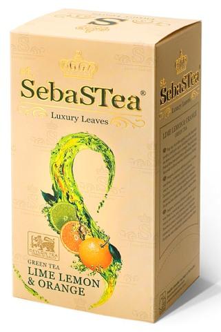 SebasTea filteres teakülönlegesség - Lime citrom és narancs zöld tea 37,5gr