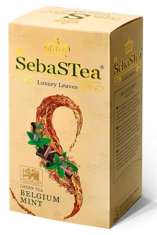 SebasTea filteres teakülönlegesség - Belgium menta zöld tea 37,5gr
