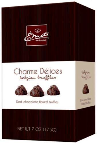 Emoti Charme belga trüffel desszert - Étcsokoládé trüffel 175gr