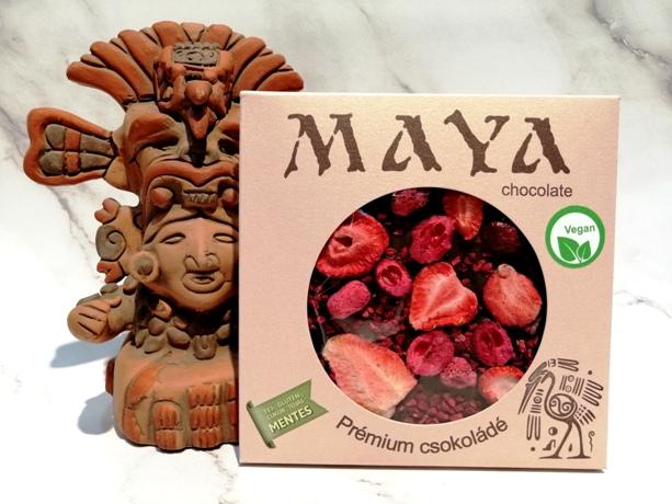 Maya Chocolate prémium Paleo cukormentes tejmentes gluténmentes csokoládé édesítőszerrel  - Tripla Red 100gr