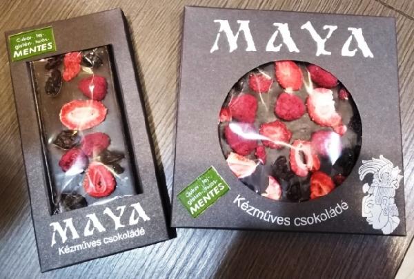 Maya Chocolate prémium Paleo cukormentes tejmentes gluténmentes csokoládé édesítőszerrel - Tripla Red 50gr