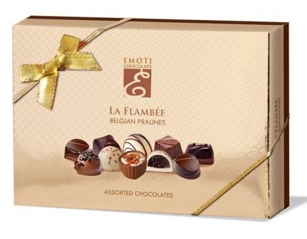 Emoti belga La Flambe vegyes csokoládé válogatás 120gr