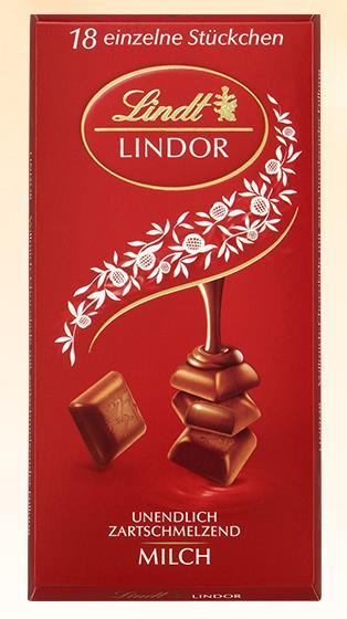 Lindt Lindor táblás tejcsokoládé 100gr