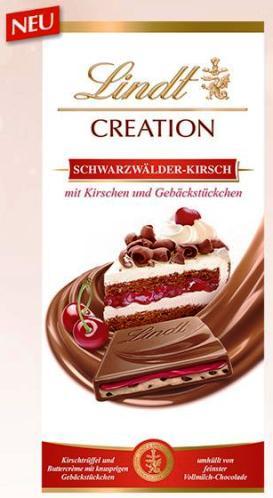 Lindt Limitált Creation - XXL Feketeerdő tortás tejcsokoládé 150gr