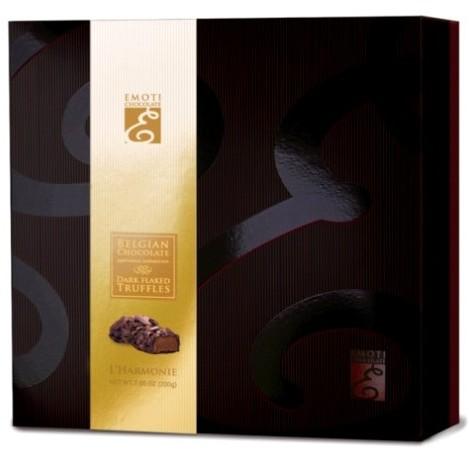 Emoti belga Harmonie étcsokoládé trüffel díszdesszert 200gr
