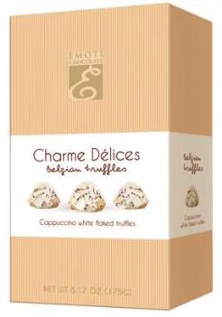 Emoti Charme belga trüffel desszert - Cappuccino trüffel 175gr
