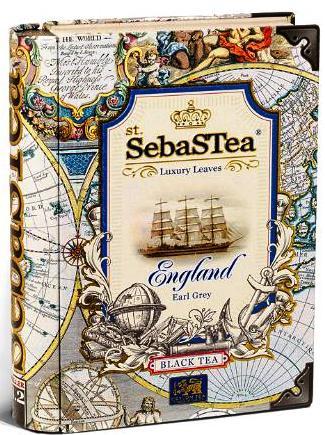 SebasTea luxus fémdobozos teakönyv -  Az utazó: England Earl Grey tea 100gr