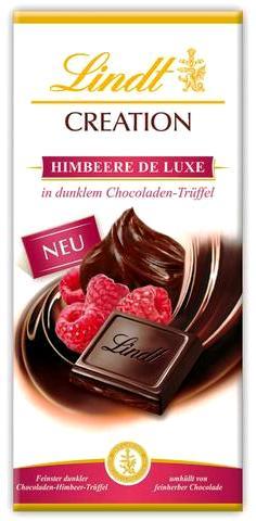 Lindt XXL Creation töltött 70% étcsokoládé - Luxus Málnatrüffel 150gr