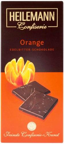Heilemann csokoládécsalád - Narancsos étcsokoládé 80gr