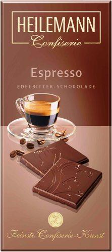 Heilemann csokoládécsalád - Espresso kávés étcsokoládé 80gr