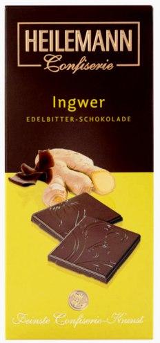 Heilemann csokoládécsalád - Gyömbéres étcsokoládé 80gr