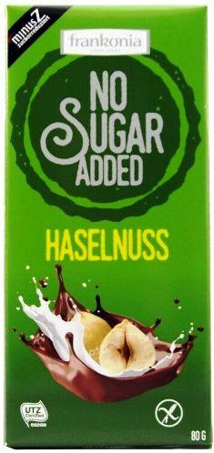 Frankonia cukormentes és gluténmentes csokoládé édesítőszerrel - Mogyorós tejcsokoládé 85gr