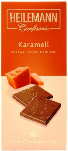 Heilemann csokoládécsalád - Karamellás tejcsokoládé 80gr