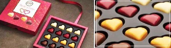 Elit díszdobozos Hearts in colours szívdesszert 160gr
