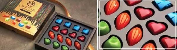 Elit díszdobozos Taste of colour színes csokoládé desszert 160gr