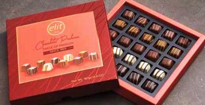 Elit díszdobozos Taste of passion válogatás csokoládé desszert 160gr