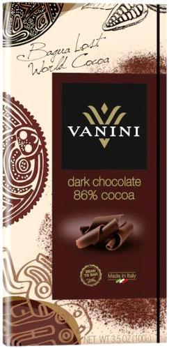 Vanini olasz gluténmentes csokoládécsalád - 86% extra étcsokoládé 100gr