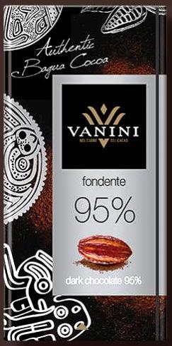 Vanini olasz gluténmentes csokoládécsalád - 95% extra sötét étcsokoládé 90gr