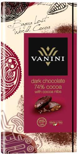 Vanini olasz gluténmentes csokoládécsalád - 74% extra étcsokoládé kakaóbabbal dúsítva 100gr