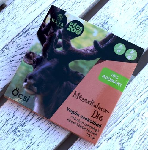 """Maya Chocolate Pécs ZOO csokoládécsalád - ÖCSI - Mézeskalácsos, diós vaníliás tejmentes, gluténmentes """"tej""""csokoládé 100gr"""