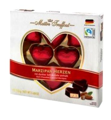 Maitre Truffout elegáns marcipán szívdesszert 110gr