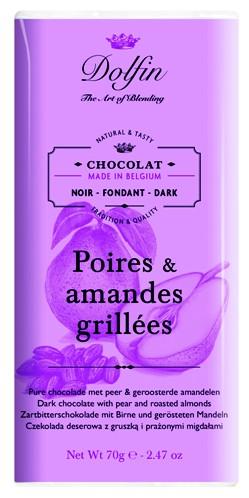 Dolfin belga körtés mandulás étcsokoládé 70gr