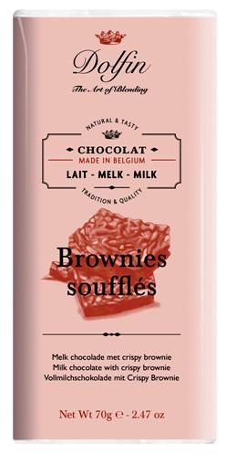 Dolfin belga ropogós brownie sütis tejcsokoládé 70gr