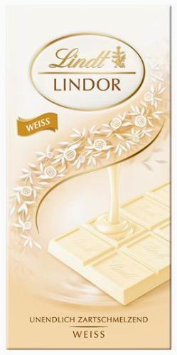 Lindt Lindor White fehércsokoládé táblás csokoládé 100gr