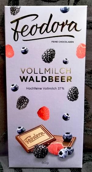 Feodora Hachez Sweet Dreams csokoládécsalád - Mennyei erdei gyümölcsös tejcsokoládé 80gr