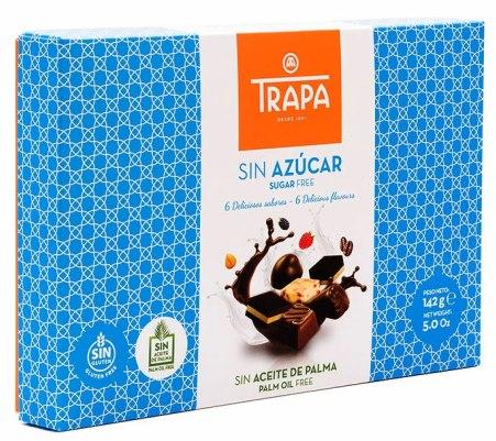 Trapa spanyol cukormentes, gluténmentes praliné szelekció desszert édesítőszerrel 142gr