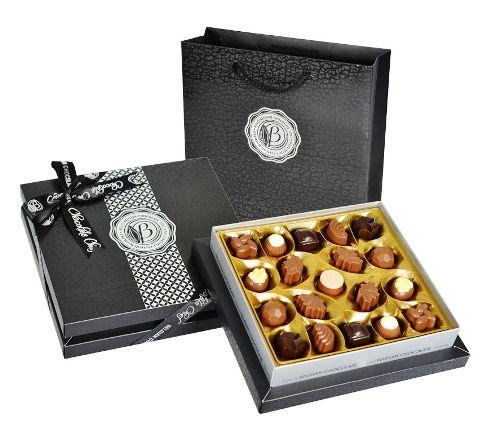 Bolci gyémánt fekete-ezüst díszdobozos pralinéválogatás 230gr