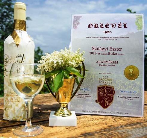 Bodzaborház Virágbor - Aranyvirág díjnyertes édes fehér bodzabor 0,75l