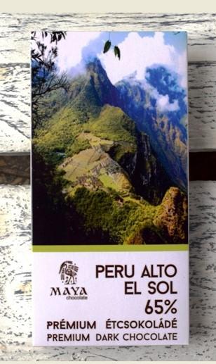 Maya Chocolate Ősi sorozat - Alto el Sol Peru 65%-os termőhely szelektált étcsokoládé 50gr