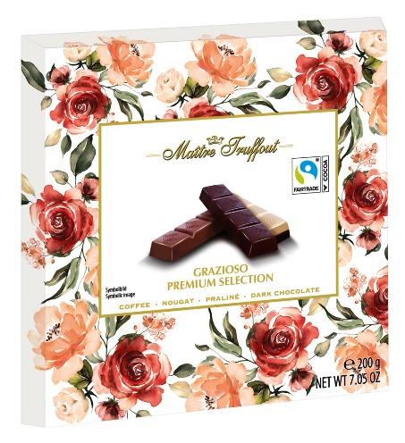 Maitre Truffout Premium Flowers töltött csokoládé desszert 200gr