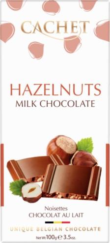 Cachet belga mogyorós tejcsokoládé 100gr