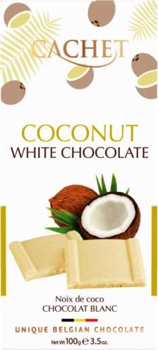 Cachet belga kókuszos fehércsokoládé 100gr