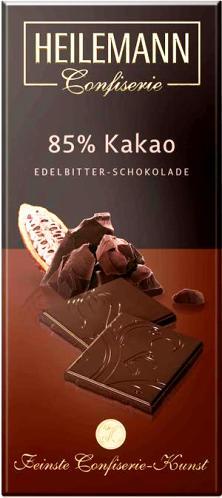 Heilemann csokoládécsalád - 85% Extra dark étcsokoládé 80gr