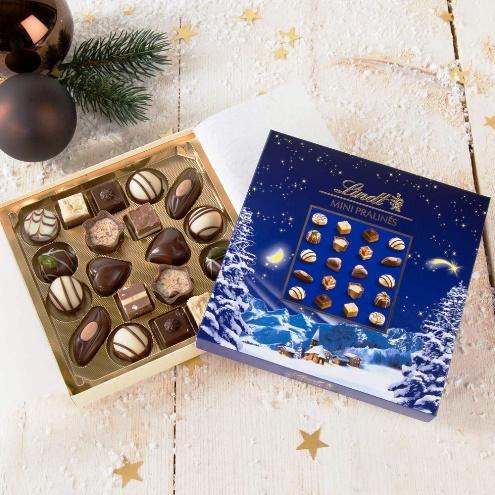 Lindt mini karácsonyi praliné válogatás 100gr