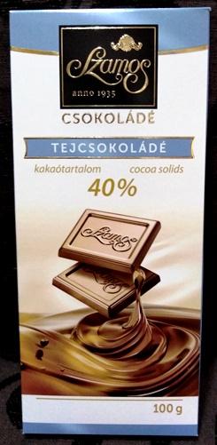 Szamos táblás csokoládécsalád - Natúr tejcsokoládé 40% kakaótartalommal 100gr