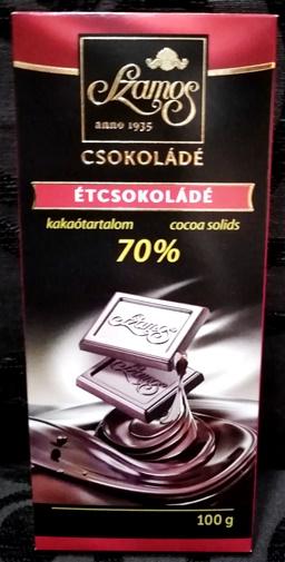 Szamos táblás csokoládécsalád - Natúr étcsokoládé 70% kakaótartalommal 100gr
