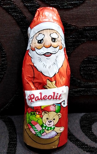 Paleo cukor-tej-gluténmentes étcsokoládé Télapó figura édesítőszerrel 40gr