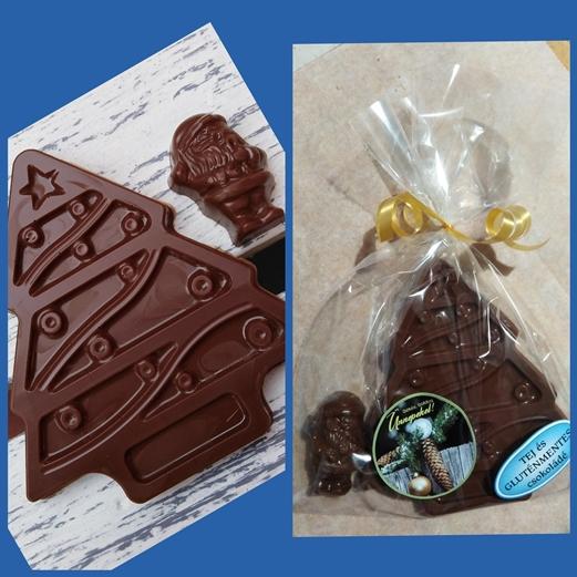 Maya Chocolate vegán tejmentes és gluténmentes Karácsonyfa és Mikulás csomag 58gr