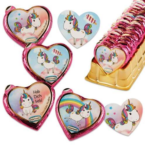 Unikornis szív csokoládé 24gr