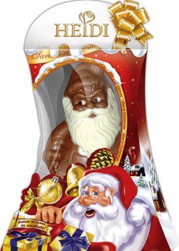 Heidi ünnepi karácsonyi csokoládé figura  - Vidám Télapó 70gr